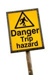 danger trip hazard